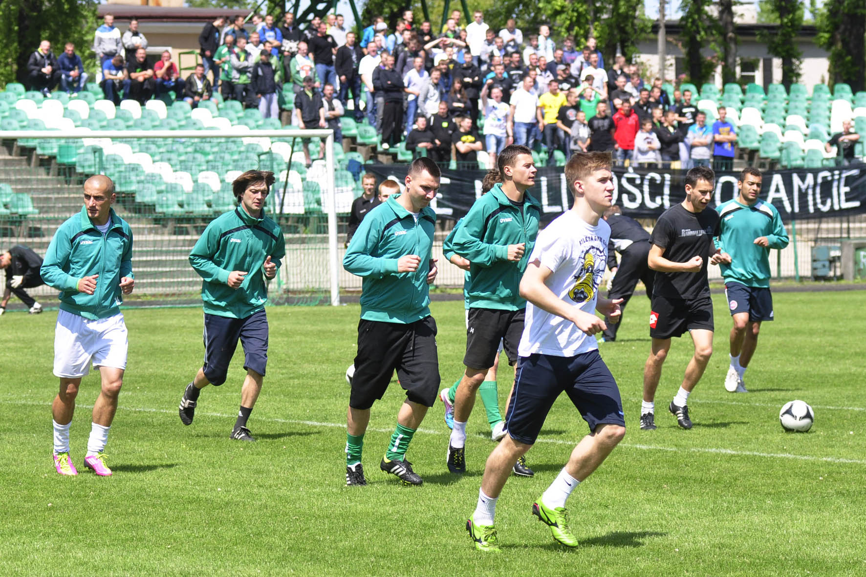 Zawodnicy Radomiaka podczas piątkowego treningu przed derbami