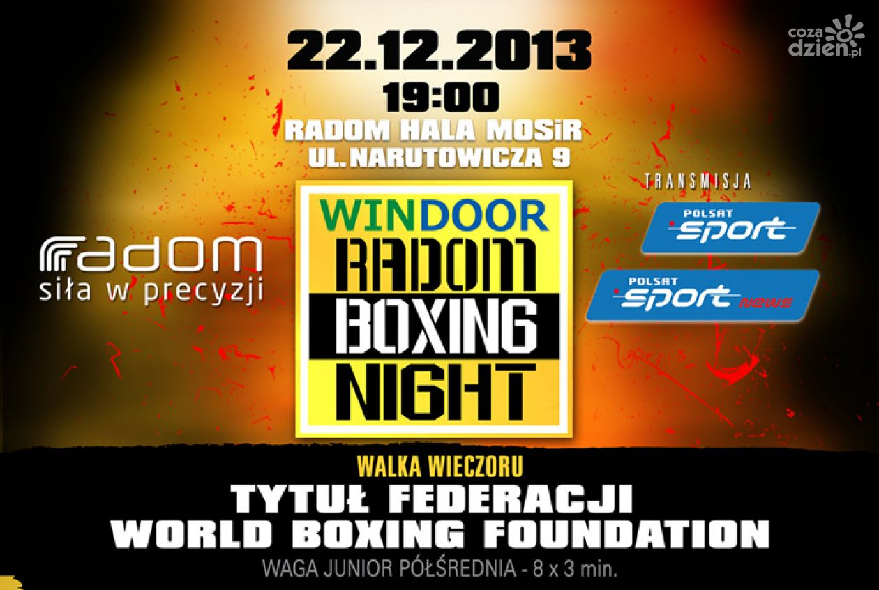 KONKURS! Bilety na Windoor Radom Boxing Night!