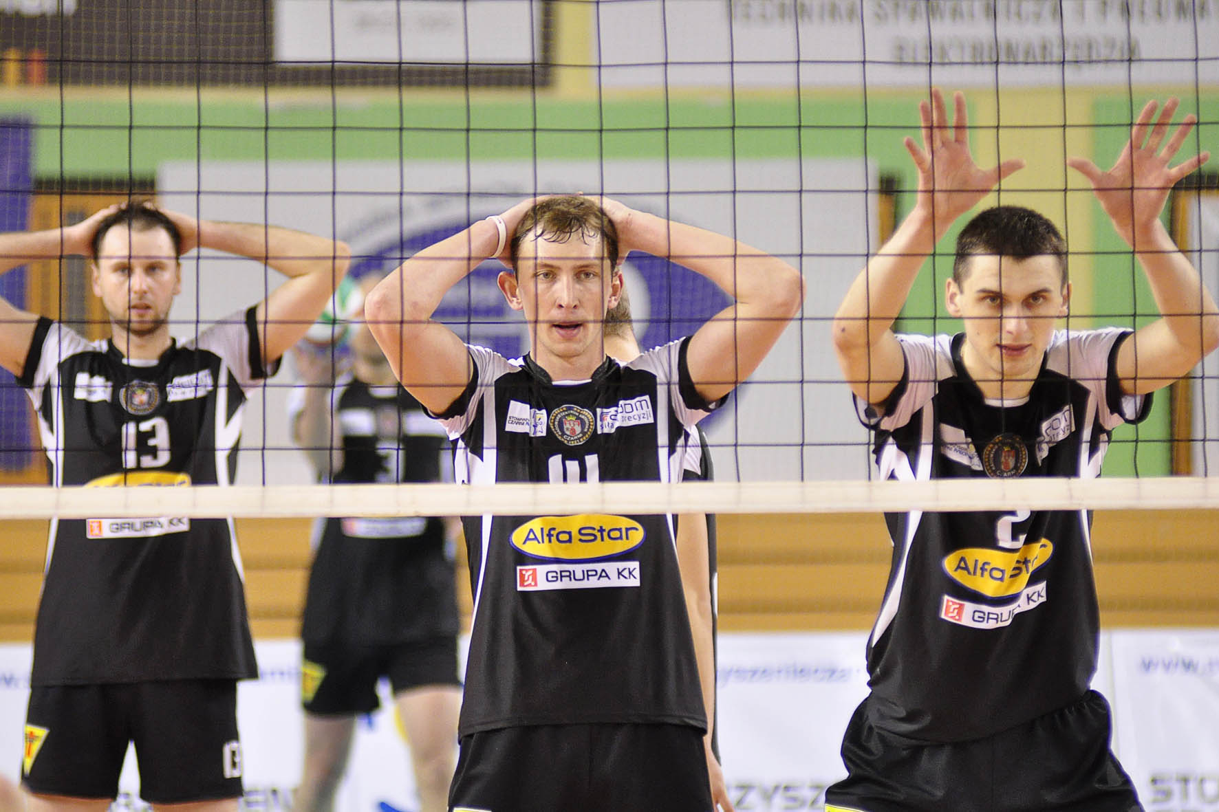 Kamil Gutkowski (w środku) - Czarni Radom