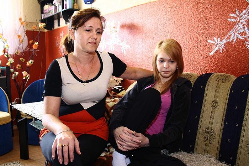 Eliza z mamą Agnieszką