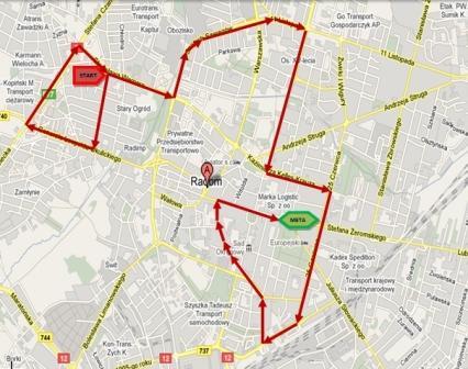 Mapa przejazdu